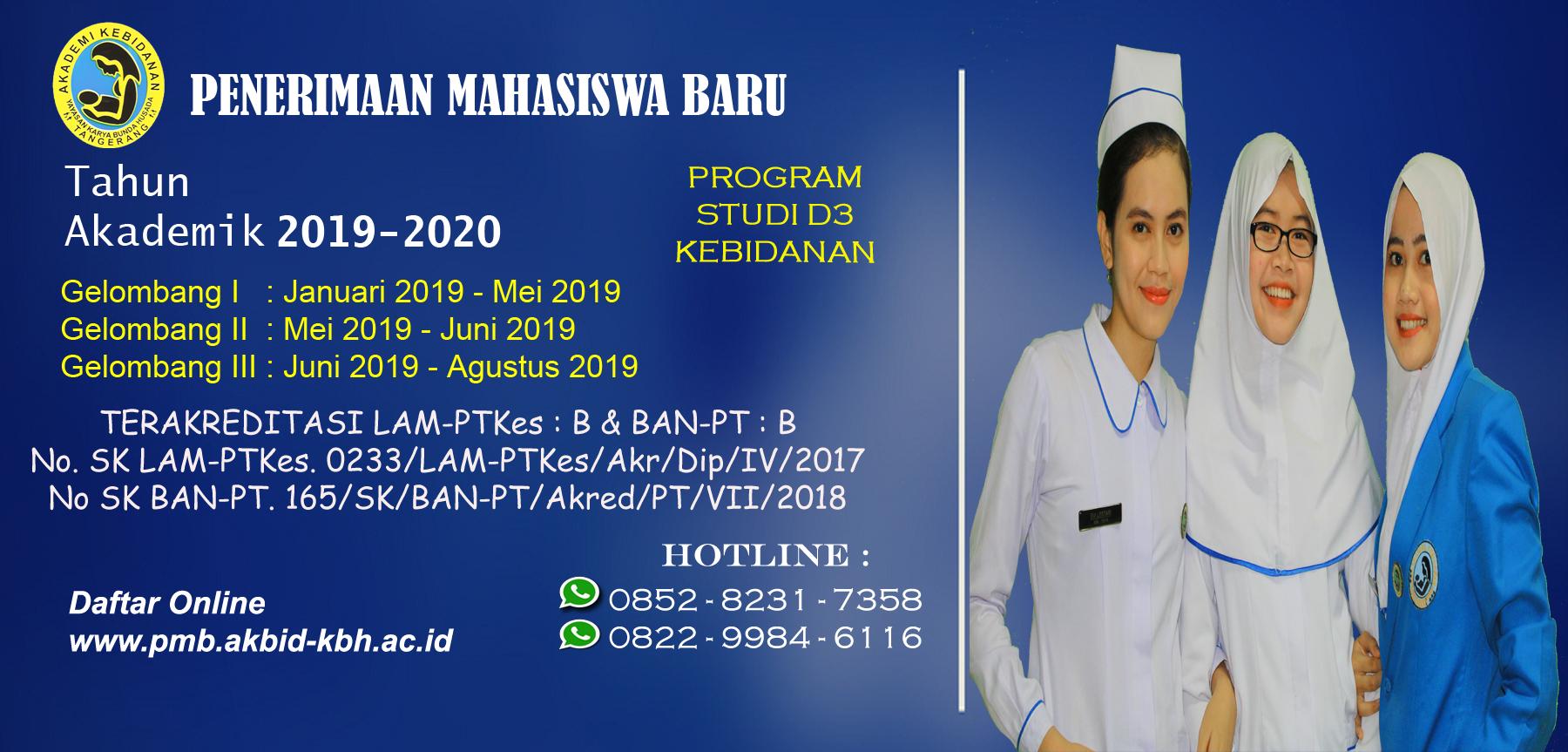APenerimaan Mahasiswa Baru Tahun Akademik 2019/2020