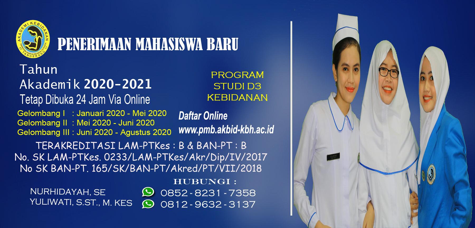 Penerimaan Mahasiswa Baru Tahun Akademik 2020/2021 Tetap Dibuka 24 Jam Via Online